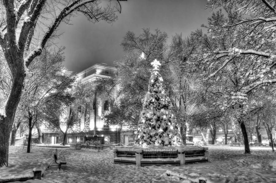 Photographing Christmas Town on Christmas Eve